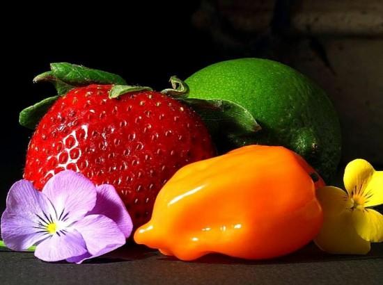 Still life photo with an orange habanero